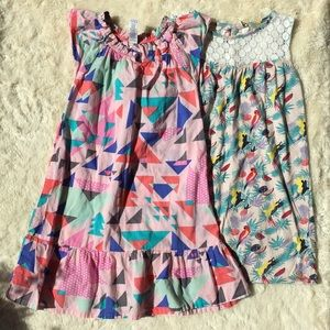 Tea collection Roxy girl pink bird dresses